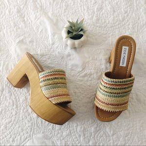 steve madden playdate platform slide sandal